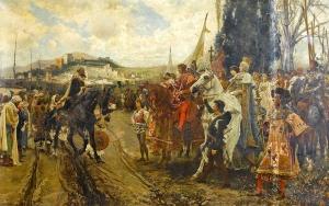 La rencidición de Granada de Francisco Pradilla. Fuente: Wikimedia Commons http://es.wikipedia.org/wiki/Guerra_de_Granada