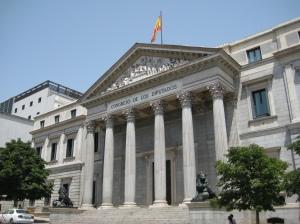 Palacio de las Cortes. Fuente: Wikimedia Commons