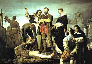 """""""La ejecución de los comuneros en Villalar"""" de Antonio Gisbert. Fuente: Wikimedia Commons."""