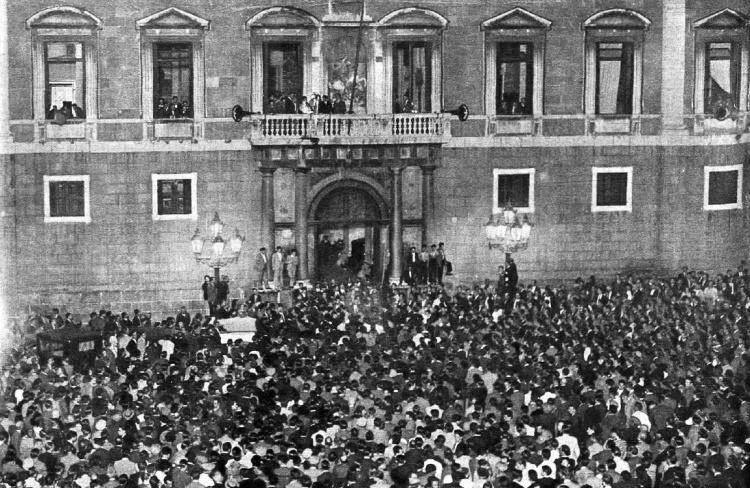 Proclamación del Estado Catalán en octubre de 1934. Fuente: Florentino Areneros